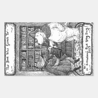 Emma Reynolds - Book Giving Day bookplate Rectangular Sticker
