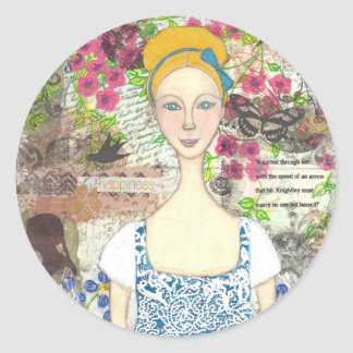 Emma Woodhouse Classic Round Sticker