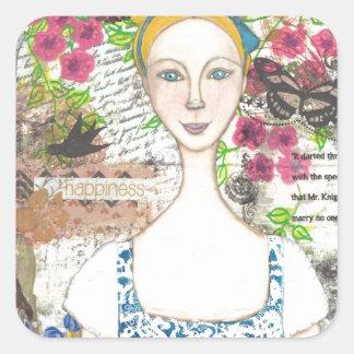 Emma Woodhouse Square Sticker