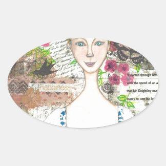 Emma Woodhouse Oval Sticker