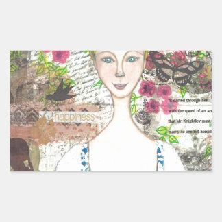 Emma Woodhouse Rectangular Sticker