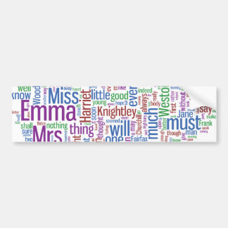 Emma Word Cloud Bumper Sticker