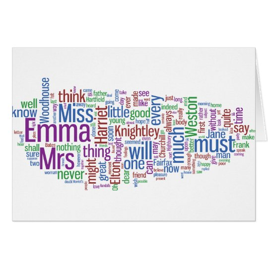Emma Word Cloud Card