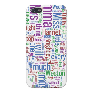 Emma Word Cloud Covers For iPhone 5