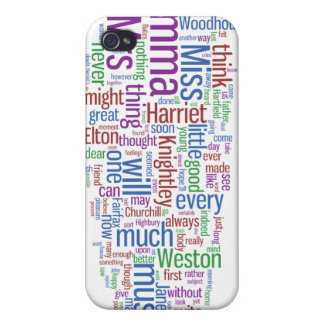 Emma Word Cloud iPhone 4 Covers