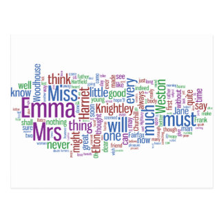 Emma Word Cloud Postcard
