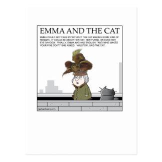 Emma y la tarjeta del gato tarjetas postales