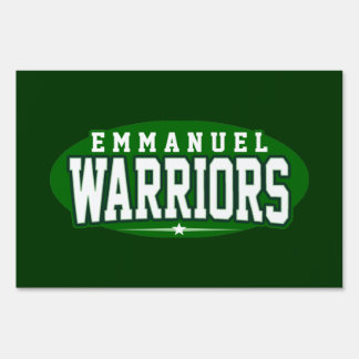 Emmanuel Christian High School; Warriors Lawn Sign