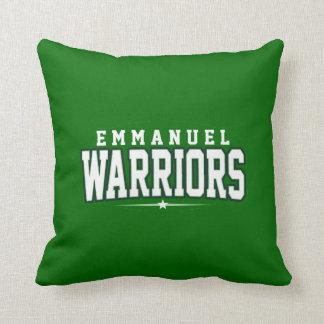 Emmanuel Christian High School; Warriors Throw Pillow