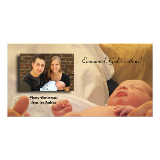 Emmanuel, God is with us! Photo Card