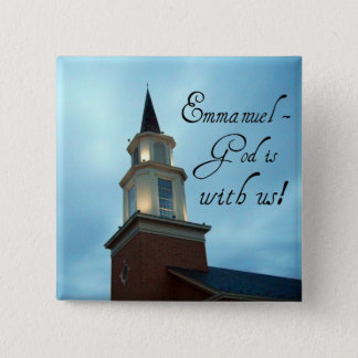 Emmanuel - God is with us! Pinback Button