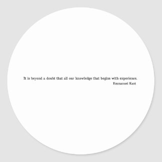 Emmanuel Kant Classic Round Sticker