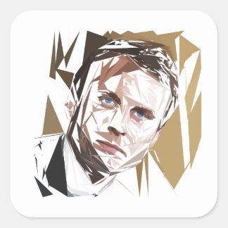 Emmanuel Macron Square Sticker