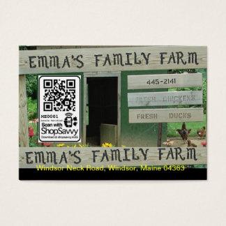 Emma's Family Farm Business Card
