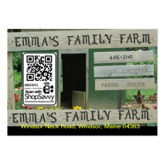 Emma's Family Farm Large Business Card