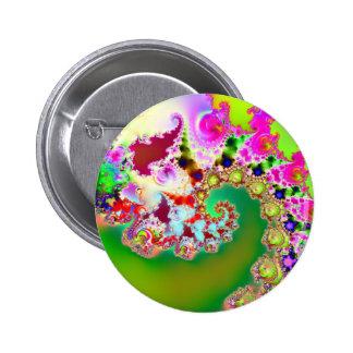 Emma's Garden I · Fractal Art · Goa Pinback Button