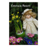 Emma's room posters