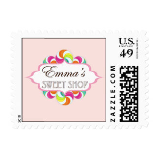 Emma's Sweet Shop Postage Stamp by Kelly Schwark