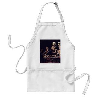 Emmausmahl By Michelangelo Merisi Da Caravaggio Adult Apron
