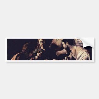 Emmausmahl By Michelangelo Merisi Da Caravaggio Car Bumper Sticker