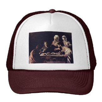 Emmausmahl By Michelangelo Merisi Da Caravaggio Trucker Hat
