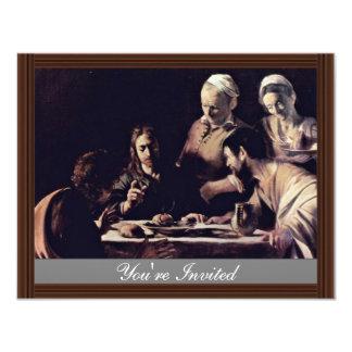 Emmausmahl By Michelangelo Merisi Da Caravaggio Announcements
