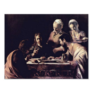 Emmausmahl By Michelangelo Merisi Da Caravaggio Custom Invite