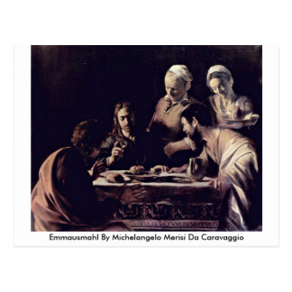 Emmausmahl By Michelangelo Merisi Da Caravaggio Postcard