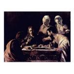 Emmausmahl de Miguel Ángel Merisi DA Caravaggio Postales