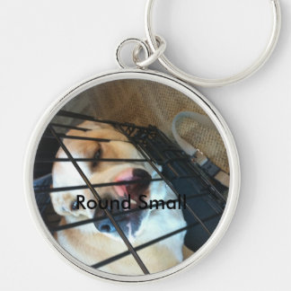 emme Silver-Colored round keychain