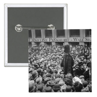 Emmeline Pankhurst - Wall St.  2 Inch Square Button