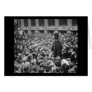 Emmeline Pankhurst - Wall St.  Card