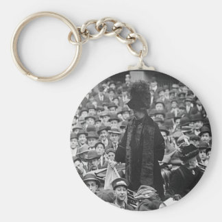 Emmeline Pankhurst - Wall St.  Keychain