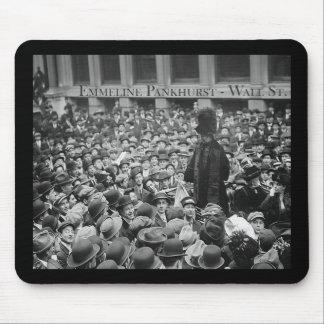 Emmeline Pankhurst - Wall St.  Mouse Pad