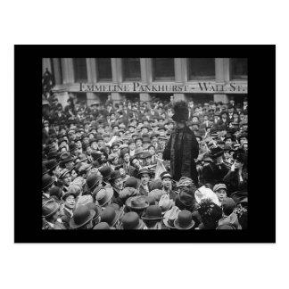 Emmeline Pankhurst - Wall St.  Postcard