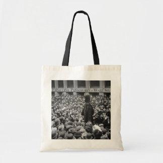 Emmeline Pankhurst - Wall St. Tote Bag