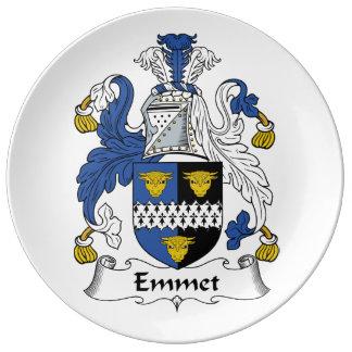 Emmet Family Crest Porcelain Plates