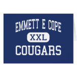 Emmett E Cope Cougars Middle Bossier City Greeting Cards