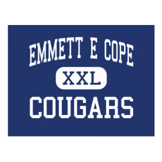 Emmett E Cope Cougars Middle Bossier City Postcard