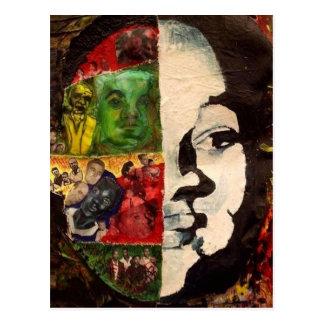 Emmett Till Abstract Collage Postcard