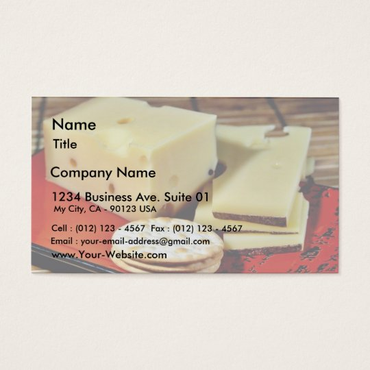 Emmi Emmentaler Cheese Business Card