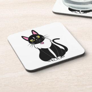 Emmy The Tuxedo Cat Beverage Coaster