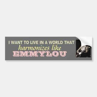 Emmylou Harris - armonice… el bumpersticker Etiqueta De Parachoque