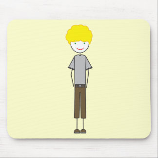 Emo Afro Boy Mouse Pad