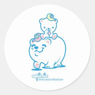 Emo and Sebastian Classic Round Sticker