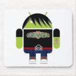 Emo Andy el androide Alfombrillas De Ratón