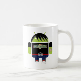 Emo Andy the Android Classic White Coffee Mug
