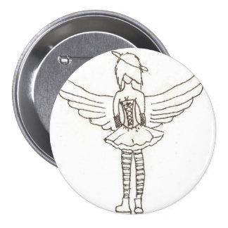 Emo Angel 3 Inch Round Button
