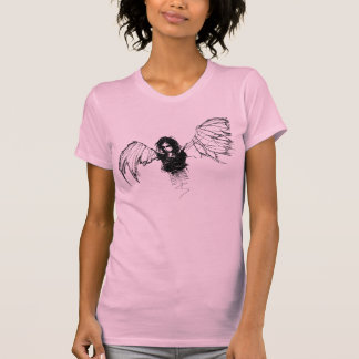 emo angel ringer tshirt