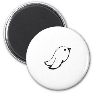 Emo Bird 2 Inch Round Magnet